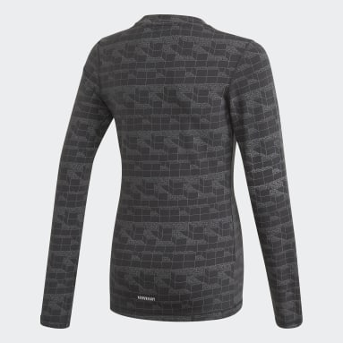 Camiseta manga larga adidas x Classic LEGO® Bricks Fitted Negro Niño Gimnasio Y Entrenamiento