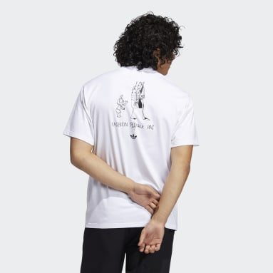 T-shirt The Answer Is Never (Unisex) Bianco Originals