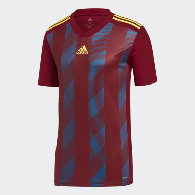 Men's Soccer Burgundy Striped 19 Jersey
