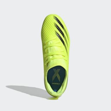 Zapatos de fútbol X Ghosted.3 Terreno Firme Amarillo Niño Fútbol