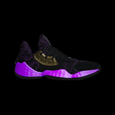 Men's Basketball Black Harden Vol. 4 Star Wars Lightsaber Purple Shoes