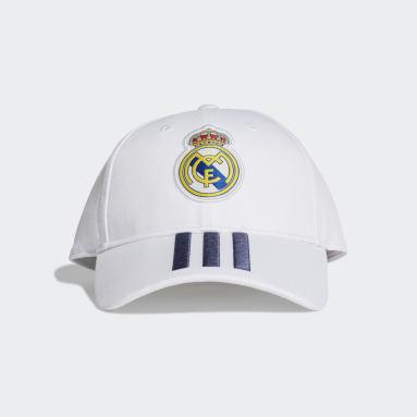 Jockey de Béisbol Real Madrid (UNISEX) Blanco Fútbol