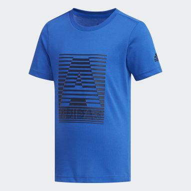 T-shirt Cotton Bleu Garçons Yoga