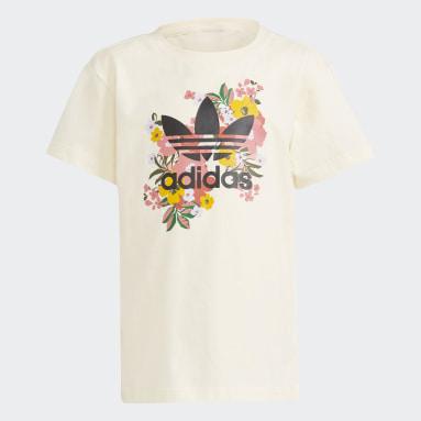 Conjunto pantalón corto y camiseta HER Studio London Floral Blanco Niña Originals