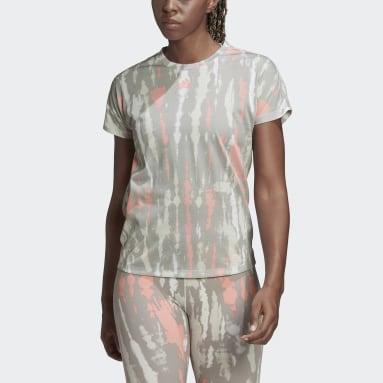 Women Running White Allover Print T-Shirt