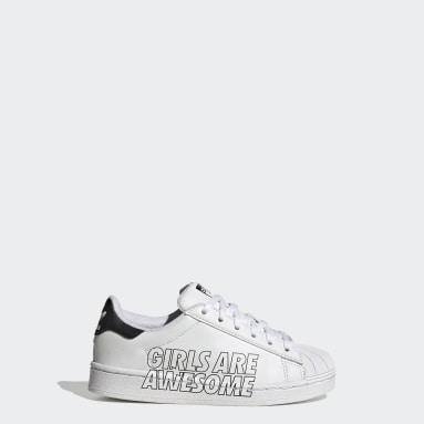 Children Originals White Superstar Girls Are Awesome Shoes