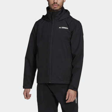 Men TERREX Black Terrex Multi RAIN.RDY Primegreen Two-Layer Rain Jacket