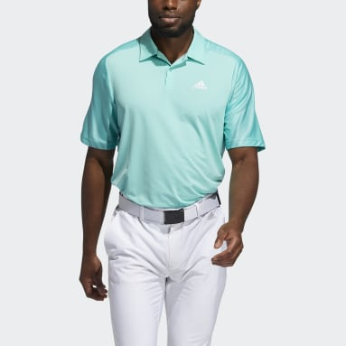 Men Golf Green HEAT.RDY 3-Stripes Polo Shirt