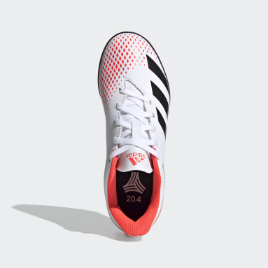 Calzado de fútbol Predator 20.4 Pasto Sintético Blanco Niño Fútbol