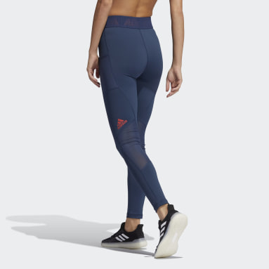 Women's Yoga Blue Techfit Badge of Sport Tights