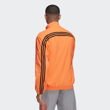 Men's Sportswear Orange adidas Sportswear Woven 3-Stripes Track Top