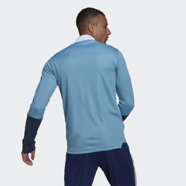 Muži Futbal modrá Tepláková bunda Tiro