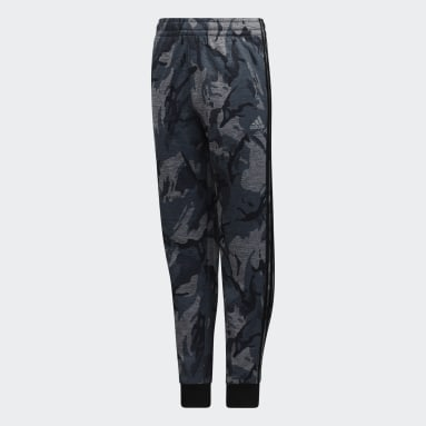 Youth Training Grey Heathered Core Camo Joggers