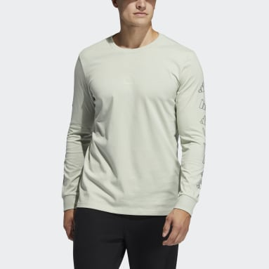 Men Sportswear Green adidas Geo Long Sleeve Graphic Tee