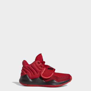 Children Basketball Red Deep Threat Shoes