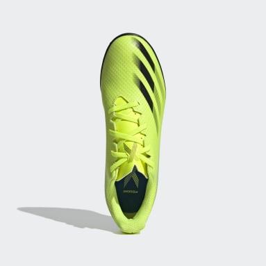 Calzado de Fútbol X Ghosted.4 Pasto Sintético Amarillo Hombre Fútbol