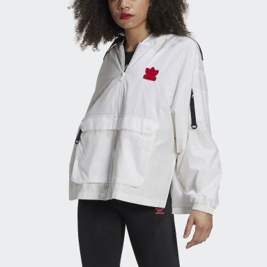 Women Originals White Valentine's Day Windbreaker
