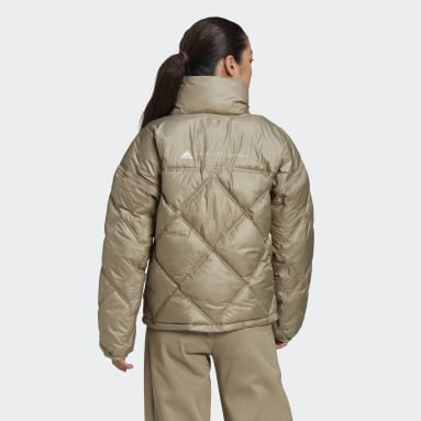 Frauen adidas by Stella McCartney Short Padded Jacke Beige