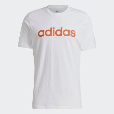 Men Sportswear White Essentials Embroidered Linear Logo T-Shirt