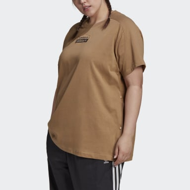 Women's Originals Brown R.Y.V. Tee (Plus Size)