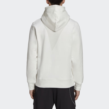 Y-3 White Y-3 Square Label Graphic Hoodie