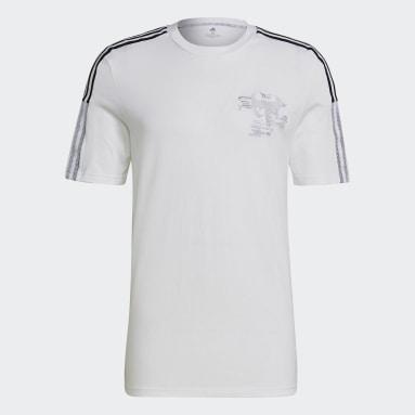 Männer Fußball Real Madrid CNY T-Shirt Weiß