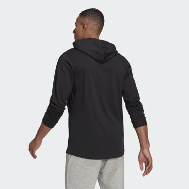 Men's Essentials Black adidas Essentials Small Logo Hoodie