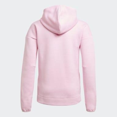 Dívky Cvičení A Trénink růžová YG ZNE 3 HOODIE