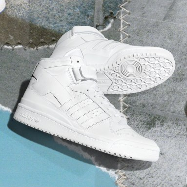Originals White Forum Mid Shoes