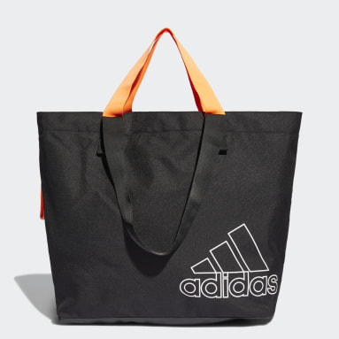 Women Tennis Black Sports Canvas Tote Bag