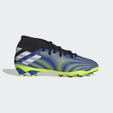 Boys Fotboll Blå Nemeziz.3 Mixed Ground Boots