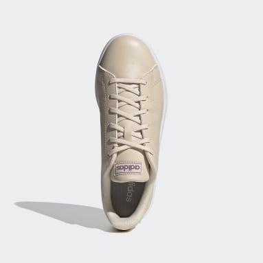 Women Sport Inspired Beige Advantage Base Shoes