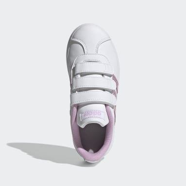 Children Sport Inspired White VL Court 2.0 Shoes