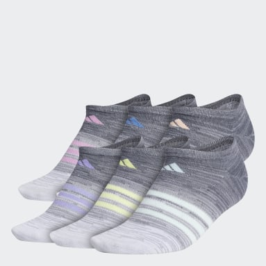 Women's Training Grey Superlite Multi Space-Dye No-Show Socks 6 Pairs