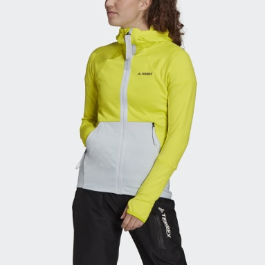 Women TERREX Yellow Terrex Tech Hooded Fleece Hiking Jacket