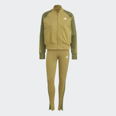 Women Sportswear Green Bomber Jacket and Tights Tracksuit