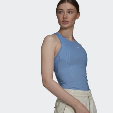 Women adidas by Stella McCartney Blue adidas by Stella McCartney TRUEPURPOSE Tank Top