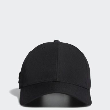 Men Golf Black Crestable Performance Cap