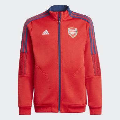 Kids Football Red Arsenal Tiro Anthem Jacket