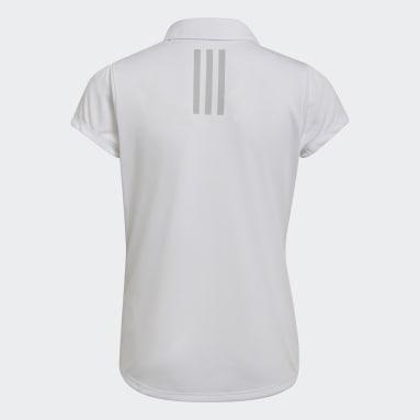 Mädchen Golf Girls' Performance Primegreen Poloshirt Weiß