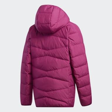 Girls Gym & Training Burgundy Frosty Jacket
