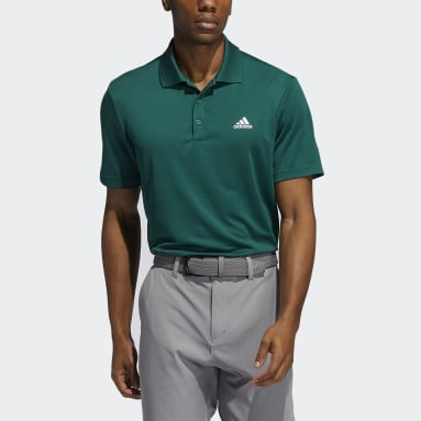 Heren Golf Groen Performance Primegreen Poloshirt