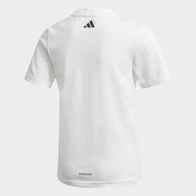 Boys Gym & Training White Cotton T-Shirt
