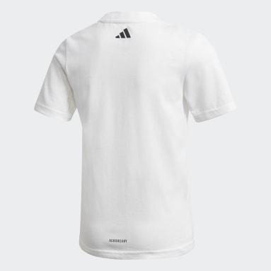 T-shirt Cotton Blanc Garçons Fitness Et Training