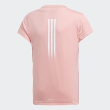 Mädchen Yoga AEROREADY T-Shirt Rosa