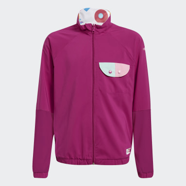 Girls Fitness Og Træning Burgundy LEGO® Dots Reversible windbreaker