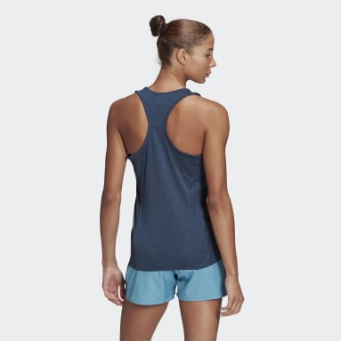 Women Running Blue Own The Run Cooler Tank Top