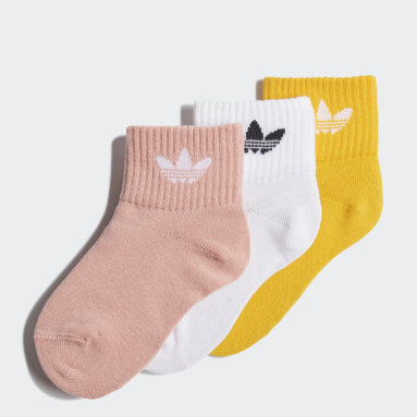 Kids Originals White Mid-Ankle Socks 3 Pairs