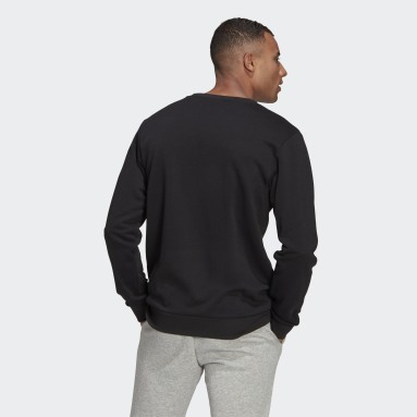 Men Sportswear Black Essentials Big Logo Sweatshirt