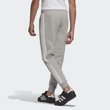 Men Originals Grey Adicolor Classics 3-Stripes Pants